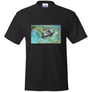 In A Beautiful Pea Green Boat - Men's T-shirt